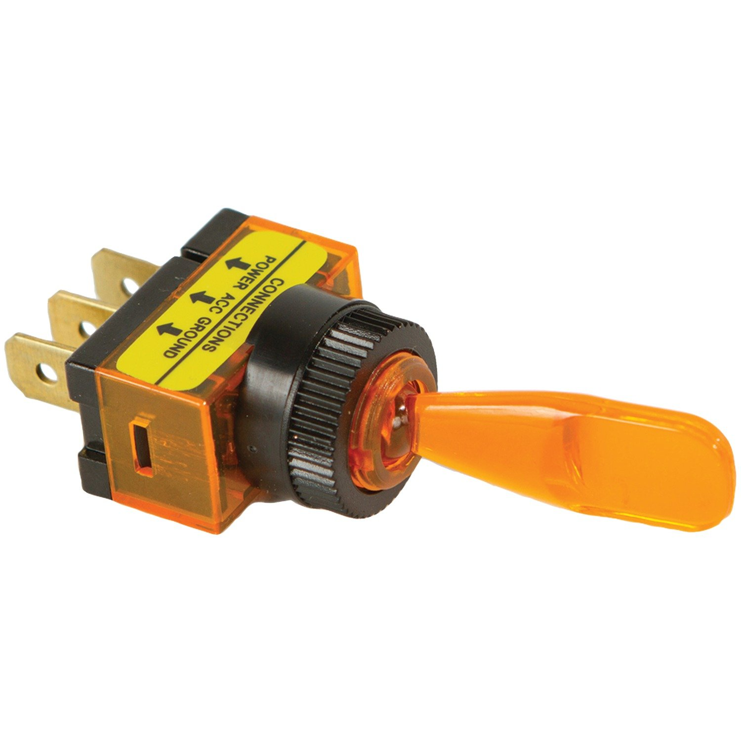 Battery Doctor 20502 On/Off Illuminated 20-Amp Toggle Switch, Amber