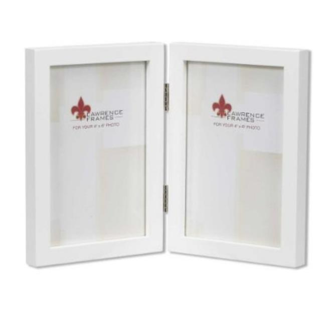 Lawrence Frames 755846D Lawrence Frames 4x6 Hinged Double White Wood ...