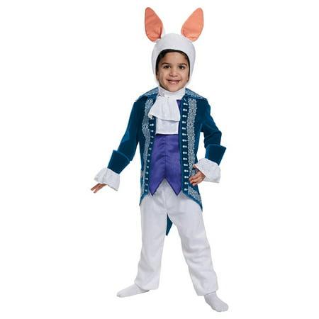 White Rabbit Deluxe Toddler Costume - Toddler Large