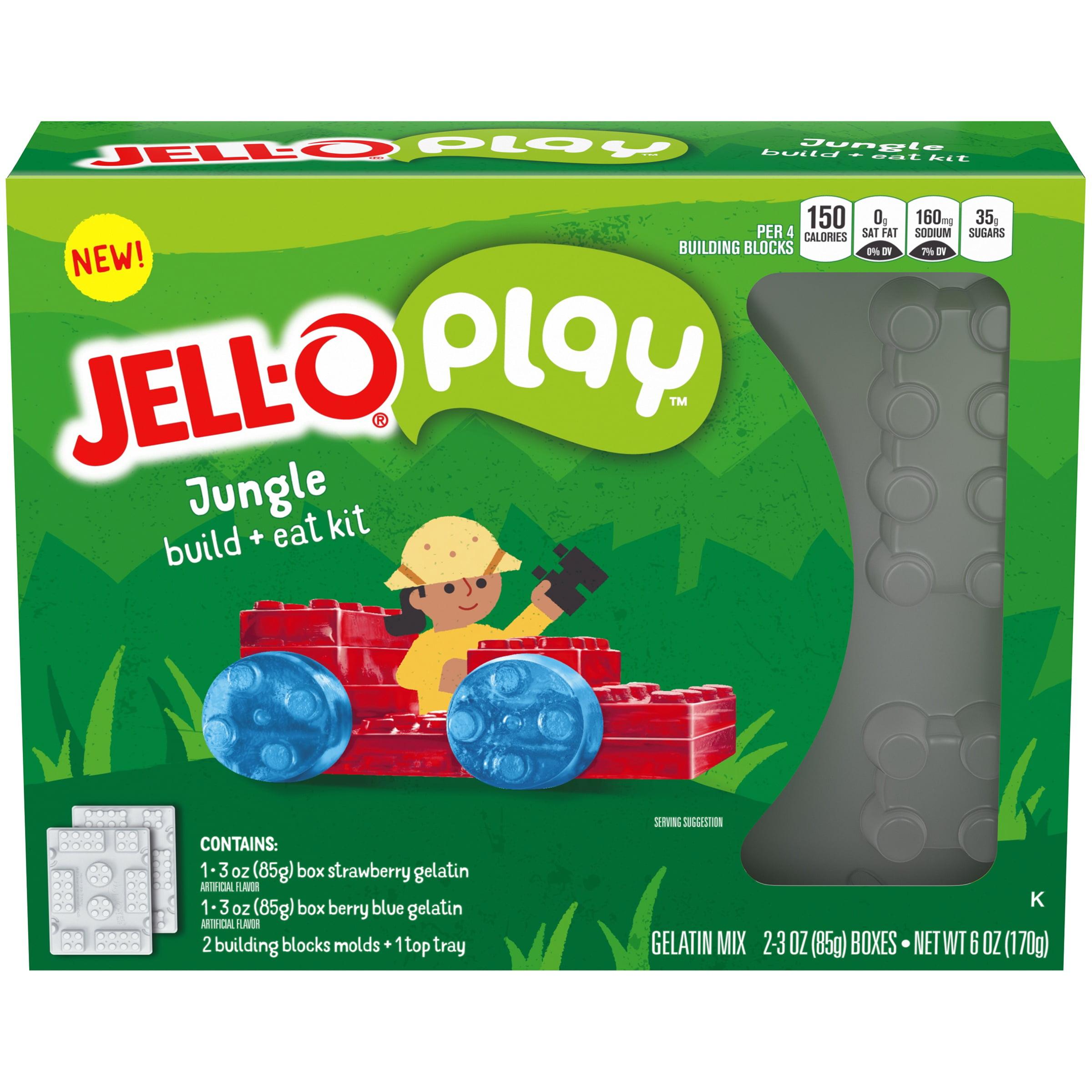 Jell-O Play Jungle Build + Eat Gelatin Kit 5 pc Box
