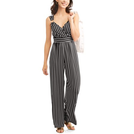 Women's Striped Cross Front - Vault Jumpsuit For Sale