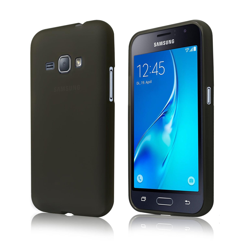 Cbus Wireless Matte TPU Silicone Flex-Gel Case / Cover for Samsung Galaxy J1 (2016) - Semi Transparent Black