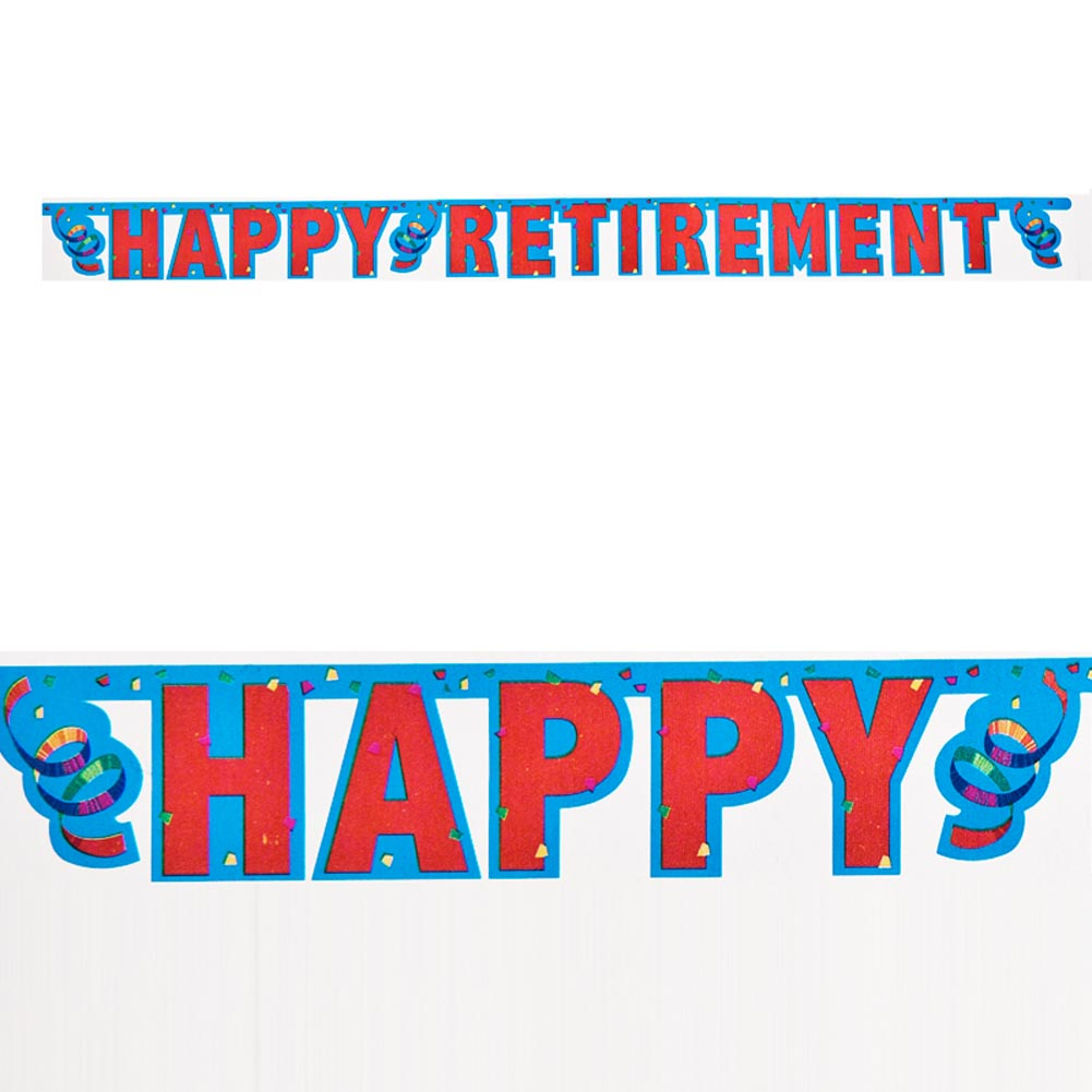 Happy Retirement Jointed Banner