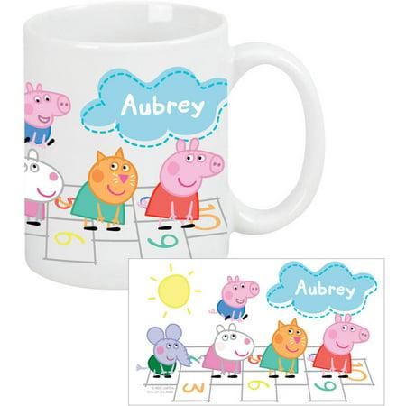 Personalized Peppa Pig Hopscotch Coffee Mug