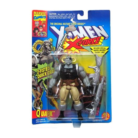 Quark Action Figure - X-Men / X-Force Series - 2 Fisted Quick Draw - Trading Card - Toy Biz - Marvel - Limited Edition - Collectible, Quark Action.., By X (X Men Series 2 Trading Cards Value)