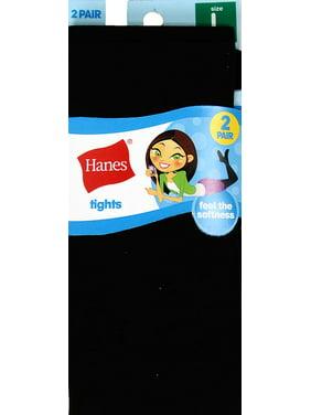 Hanes Girls Tights, 2 Pairs Stockings (Little Girls & Big Girls)