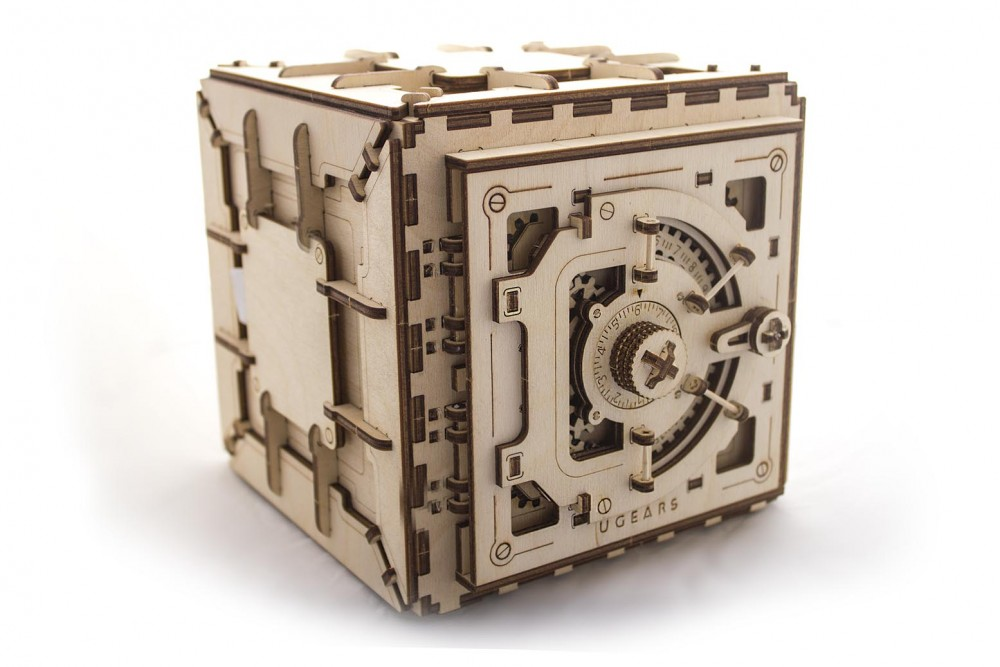 Ugears Safe Mechanical 3D Puzzle Best Eco-Friendly Wooden Gift Set for Kids and Adults by UGEARS