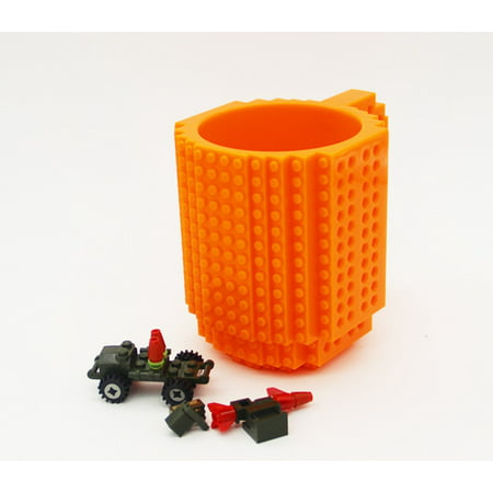 DIY Creative Lego Brick Building Mug Assemble Puzzle Blocks Gift Cup (9 Colors) - image 8 of 12