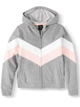 Athletic Works Colorblock Fleece Active Jacket (Little Girls, Big Girls & Plus)