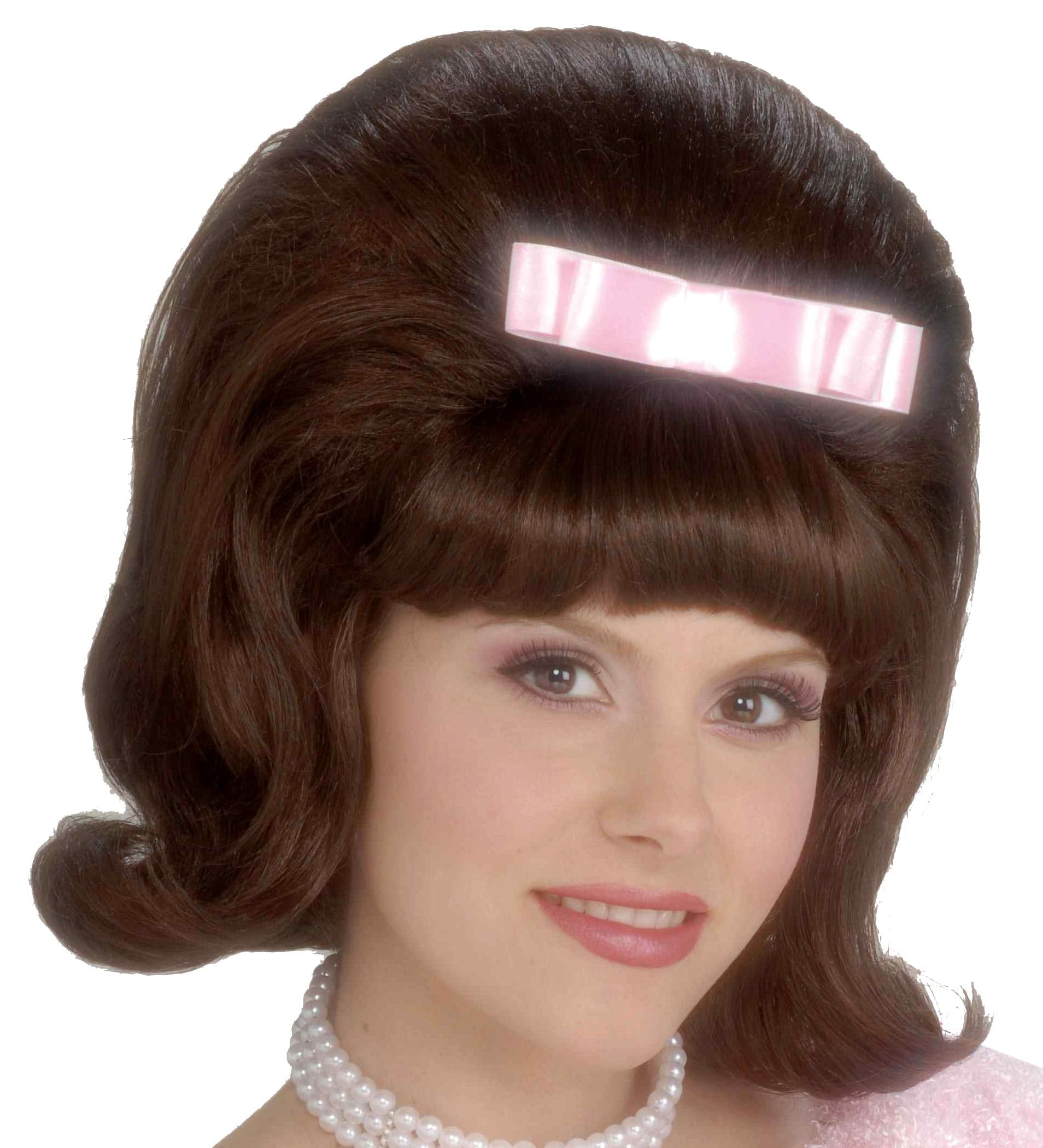 50's Bouffant Costume Wig Adult Women Brown