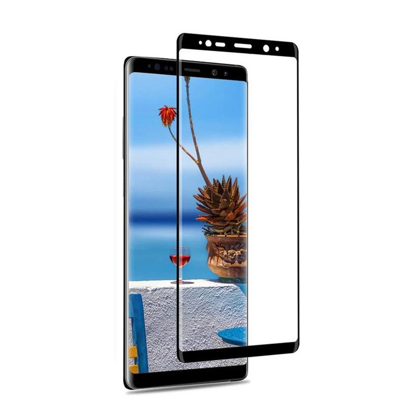 SAMSUNG GALAXY NOTE 8 TEMPERED GLASS SCREEN PROTECTOR FOR SAMSUNG GALAXY NOTE 8 BUBBLE FREE HD PROTECTIVE FILM BLACK