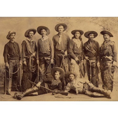 Cast Of Buffalo Bills Wild West Show Is Superb For Its Detail Of The Cowboys Outfits And Accoutrements There Are Wooly Chaps A Variety Of Six-Shooters A Winchester And A - Wild West Outfits