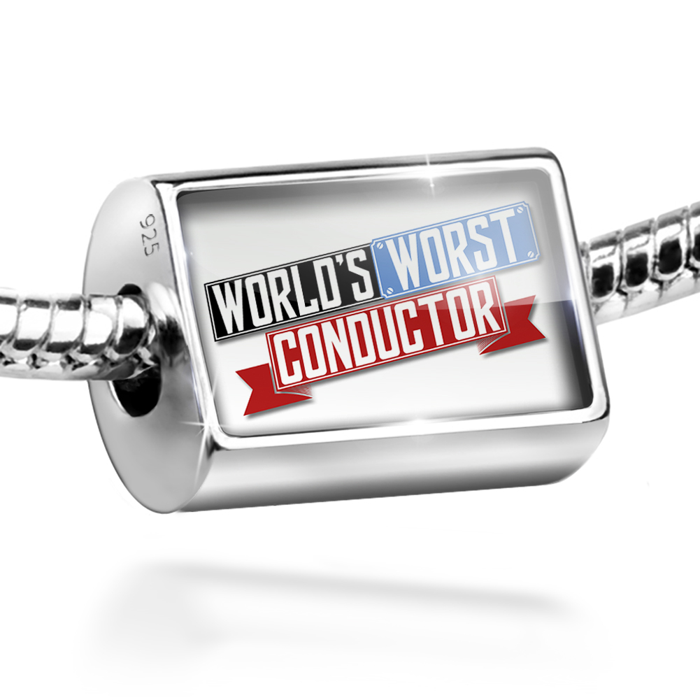 Bead Funny Worlds worst Conductor Charm Fits All European Bracelets