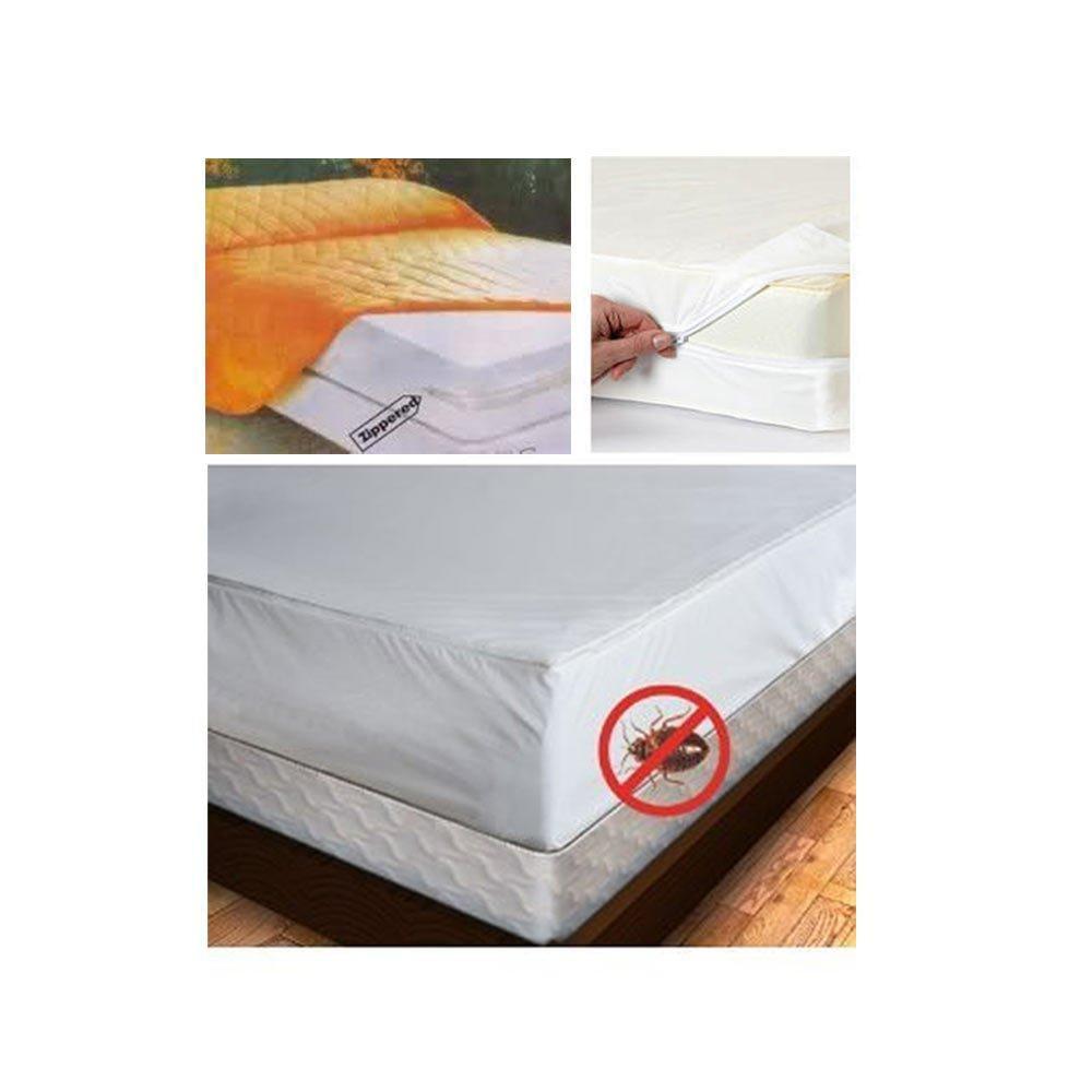 Full Size Mattress Cover Zipper Waterproof Plastic Bed Bug ...