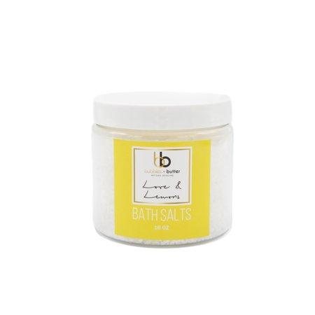 Bubbles and Butter Artisan Skincare - Love & Lemons Bath Salts](Love Bubble)