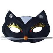 Black Cat Mask Adult Halloween Accessory