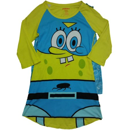 Womens Nickelodeon SpongeBob SquarePants Caped Night Gown Sleep Shirt](Spongebob Robe)
