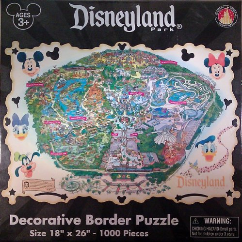 Disneyland Theme Park 1000 Piece Jigsaw Puzzle Theme Park Exclusive & Limited Availability by