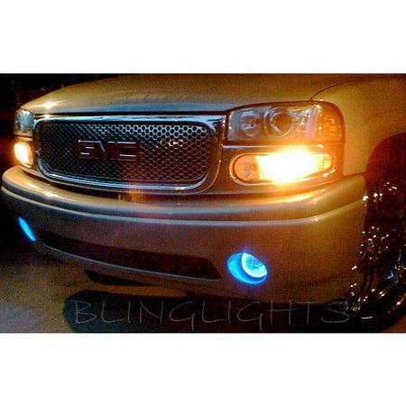 Yukon Xl Fog Driving Light (2001-2006 GMC Yukon Denali White Halo Fog Lamps Driving Lights)