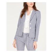 NINE WEST Womens Navy Check Blazer Wear To Work Jacket  Size: 10
