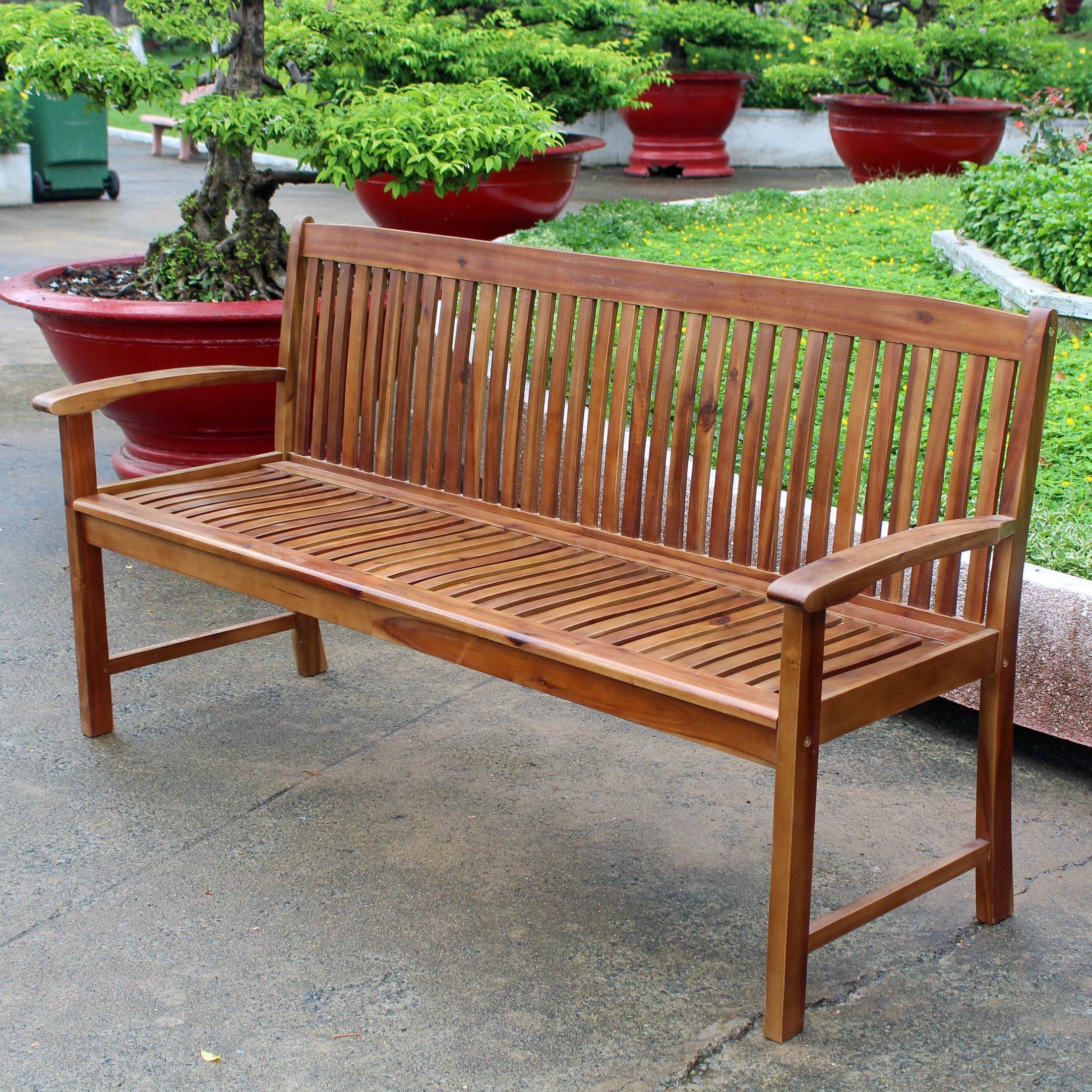 Highland Acacia Hudson 3-seater Park Bench