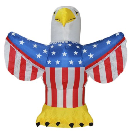 Impact Canopy 4th of July Inflatable, Outdoor Airblown Inflatable Patriotic American Bald Eagle Decoration, 6 Feet Tall - Halloween Decorations Outdoor Inflatables
