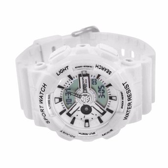 Water Shock Resistant Wrist Watch White Special Edition Analog Digital Mens