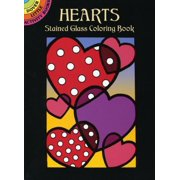 Dover Little Activity Books: Hearts Stained Glass Coloring Book (Paperback)