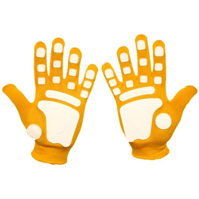 Fan Hands 671071 Clap-Enhancing Gloves  Yellow - Youth