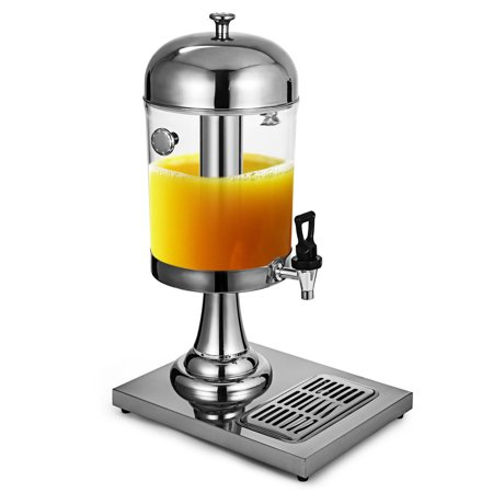 BestEquip 2.2 Gallon Milk Juice Cold Drink Dispenser Parties Restaurants Hotels Buffets, 8L, Sliver