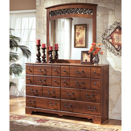 Signature Design By Ashley Timberline 8 Drawer Dresser With Optional