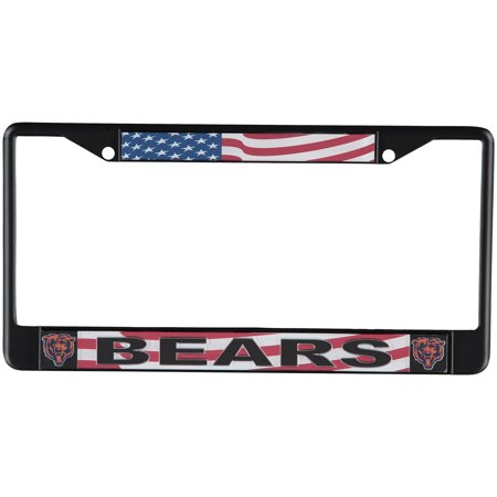 premium selection 6264e e96fb Chicago Bears Acrylic USA Flag License Plate Frame - No Size - Walmart.com