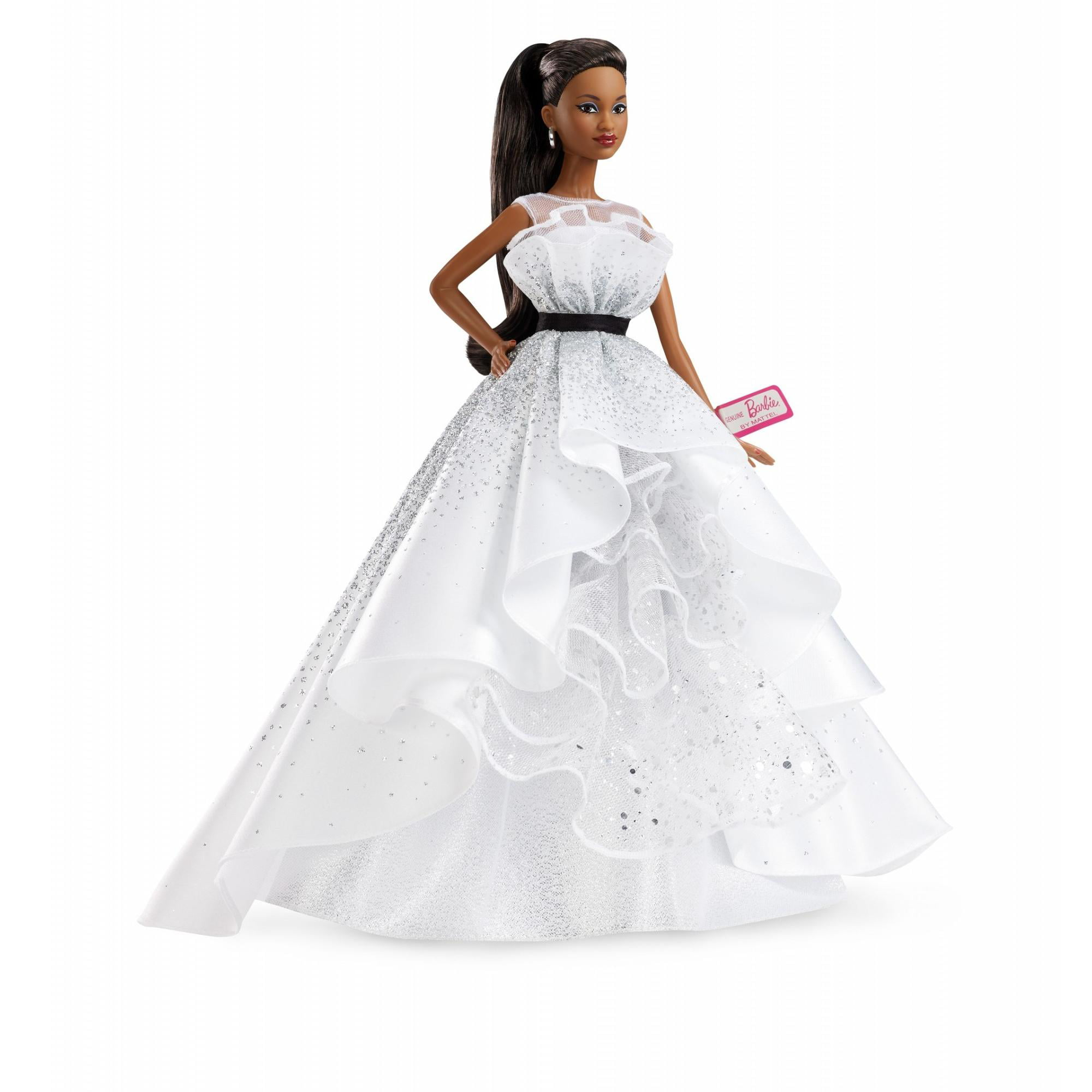 Barbie 60th Anniversary Doll, Brunette Hair & Diamond-Inspired Accents by Mattel