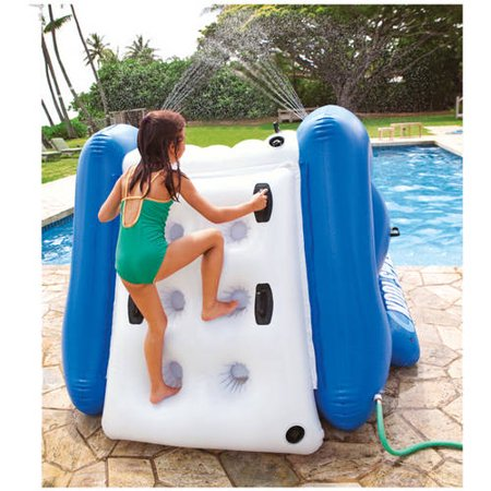 intex inflatable water slide play center with sprayer walmartcom - Inflatable Pool Slide