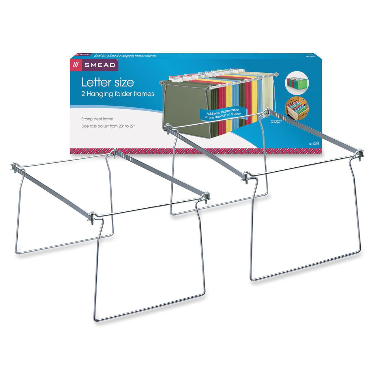 Smead Hanging File Folder Frame Steel Letter Size 2 Per