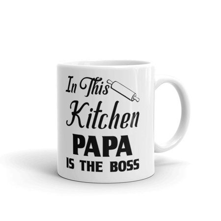 Cheap Novelty Gifts (11 oz Father Day Gift In This Kitchen Papa is the Boss Birthday Unique Novelty Coffee)