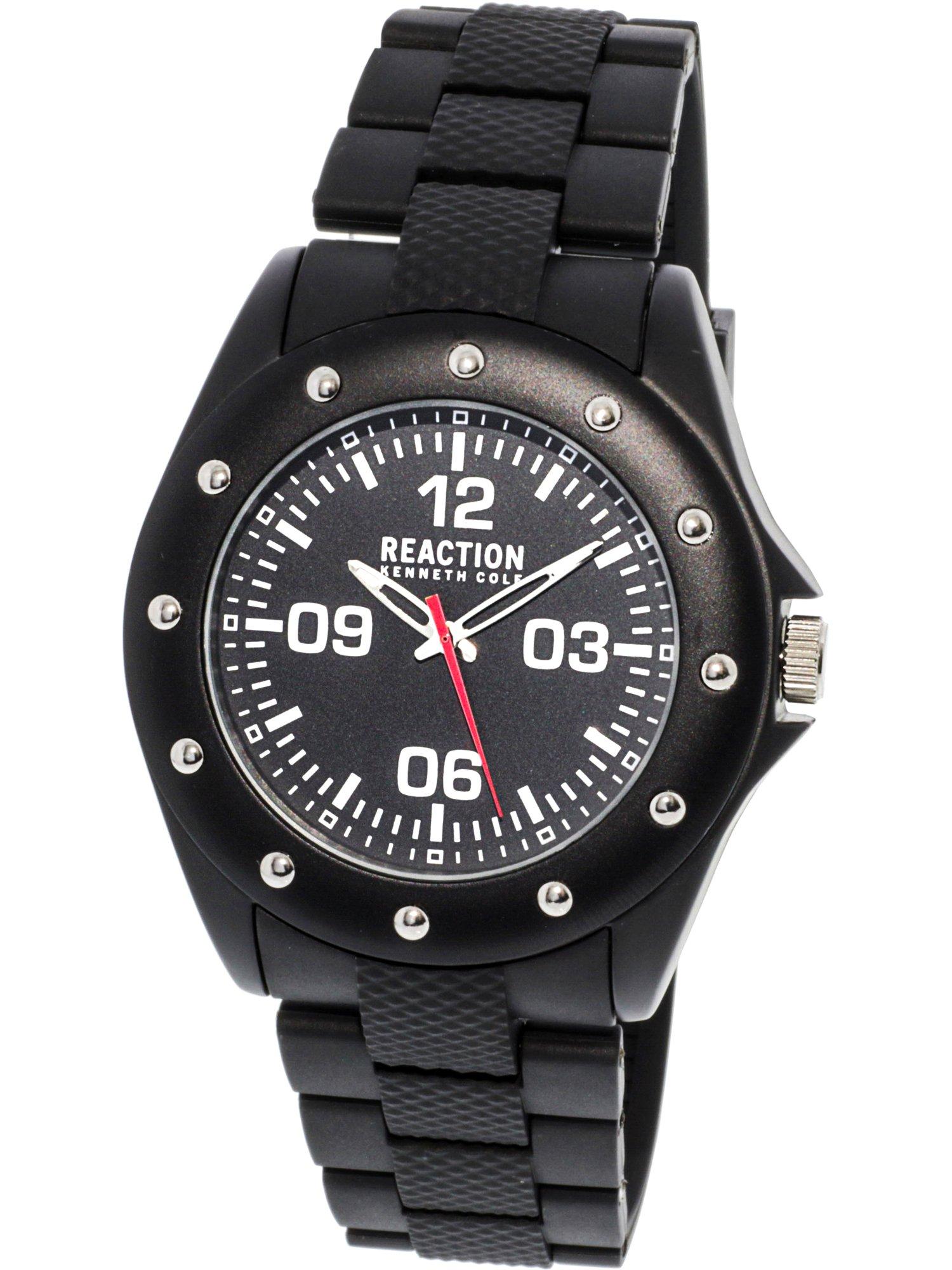 10031712 Black Rubber Quartz Fashion Watch