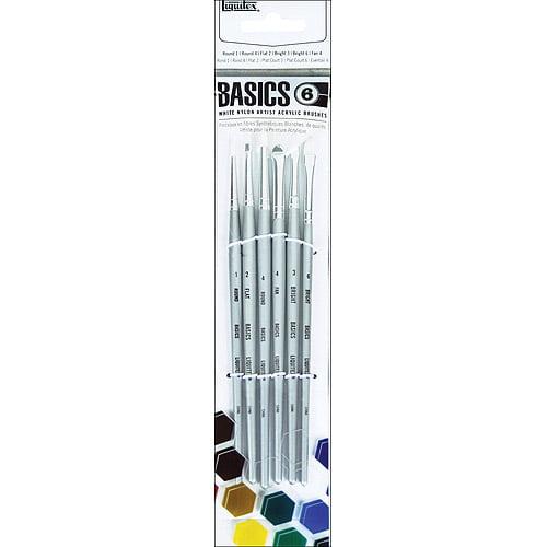 Liquitex Basics Nylon Acrylic Paintbrush Set: 6 Pieces