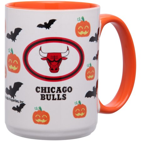 Chicago Bulls 15oz. Inner Color Orange Halloween Mug - No Size](Wit Chicago Halloween)