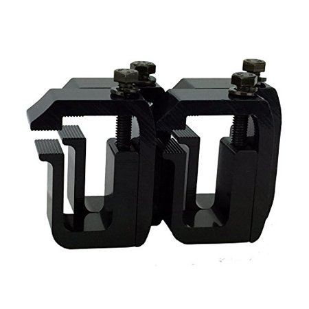 G-1 Clamp for Truck Cap, Camper Shell, Topper on a Short Bed Pickup Truck - Black Powder Coated (set of 4) ()