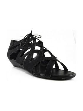 2de0899deefc5 Product Image Bamboo Women DENISA-85 Lace-Up Closed Back Sandals