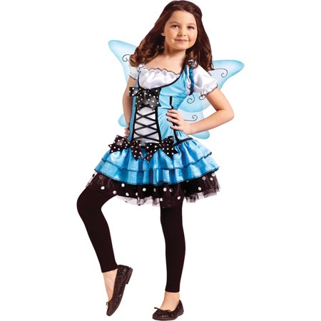 Morris Costumes Turquoise Fairy Child 4-6 (Kid Fairy Costume)