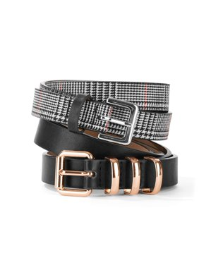 24960a9a705 Product Image Tignanello Women s Plaid and Black Belt 2-Pack