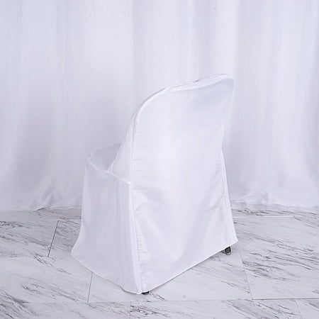 Balsacircle Polyester Folding Flat Chair Cover Slipcover
