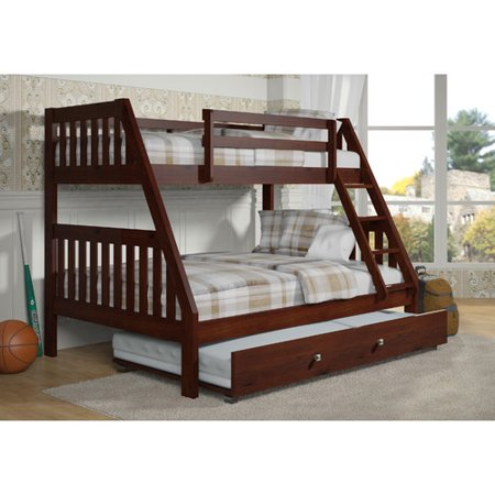 Donco Kids Washington Twin Over Full Bunk Bed Trundle