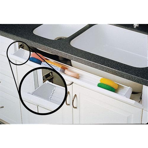 Rev-A-Shelf ST-97-4 SS Slim Line 40 Pairs of End Caps for Slim Series Sink Front