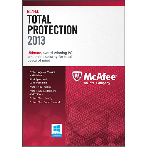 McAfeeTotal Protection 3PCs 2013 (Platform: Windows 8)