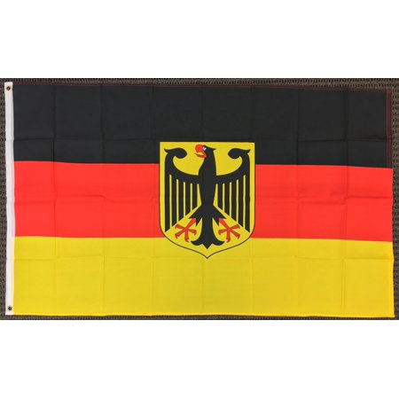 3x5 Germany Flag with Eagle German Banner Deutschland New Indoor