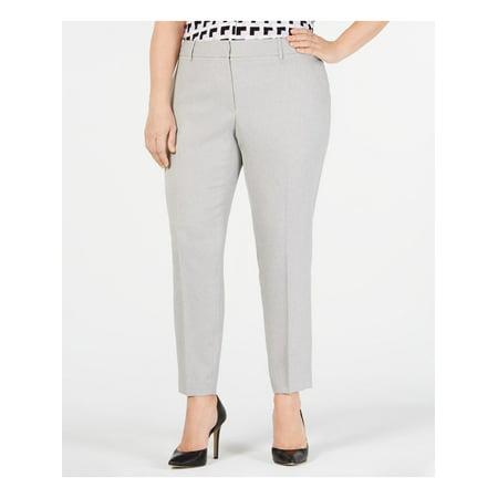 CALVIN KLEIN Womens Gray Wear To Work Pants Size: 20W
