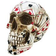 Poker Skull Stash Box / Container Playing Cards